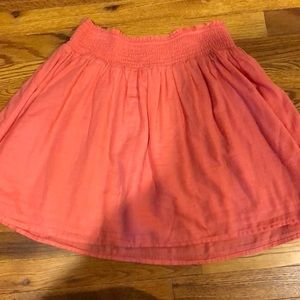 Old Navy coral pink elastic waist skirt. Size Small.